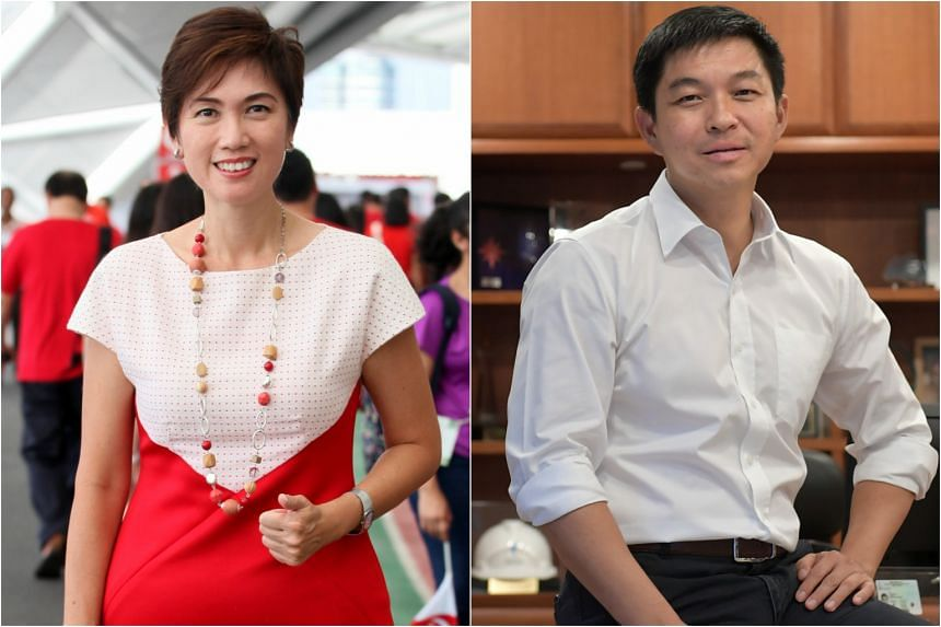 Mrs Josephine Teo, Minister in the Prime Minister's Office and Mr Tan Chuan Jin, Speaker of Parliament.