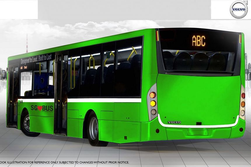 The buses are part of the Land Transport Authority's efforts to build a more environmentally friendly public bus fleet.