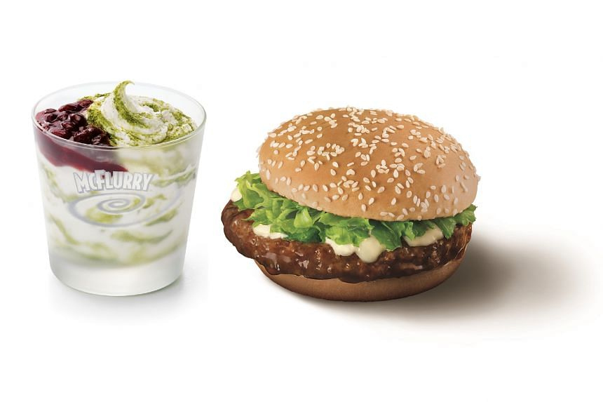The Samurai burgers will come in both chicken and beef. Also available are matcha McFlurries with red bean from $3.