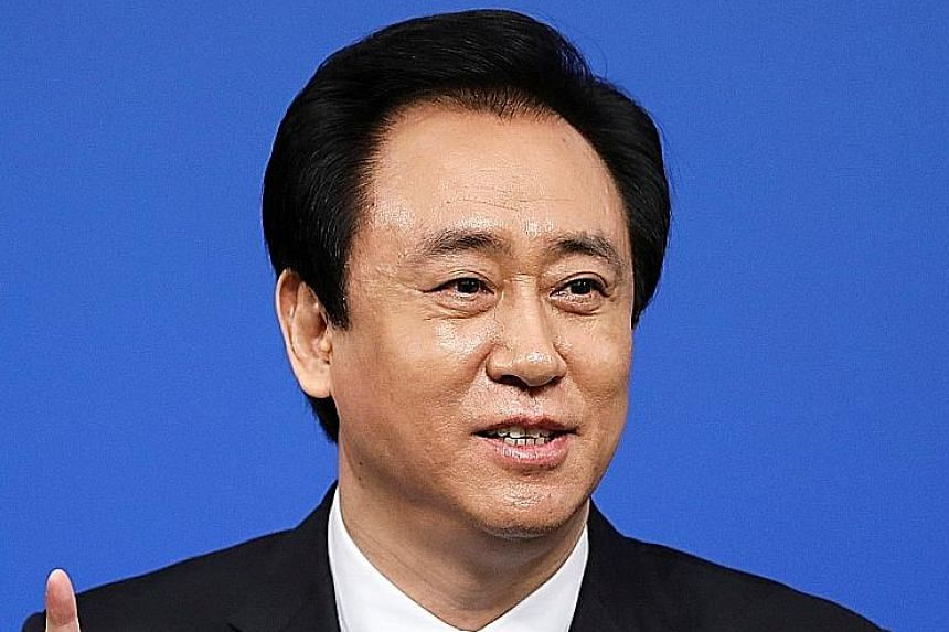 Mr Xu Jiayin's wealth is reportedly US$43 billion - a gain of about US$30 billion over last year.