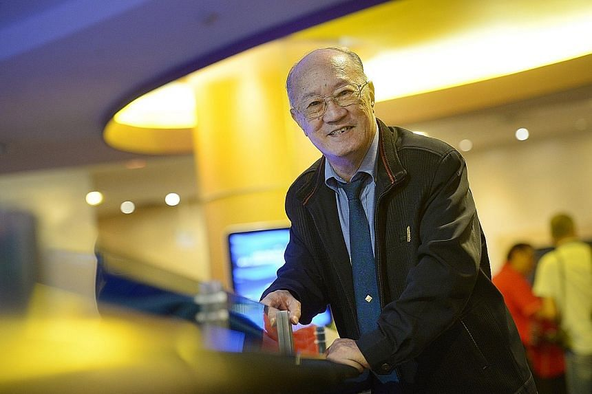 Retiree Yip Hoi Kee, 77, received Safra's long service award yesterday for his 45 years of membership. The event at Safra Mount Faber also marked Safra's 45th anniversary.