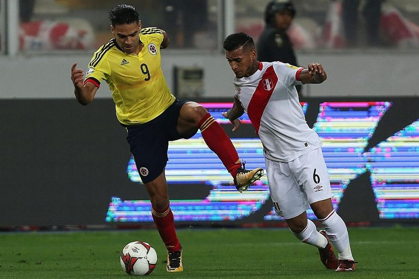 Colombia captain Radamel Falcao (left) admitted telling his Peruvian opponents that a draw would benefit both sides in their World Cup qualifier on Tuesday, but insisted that the 1-1 draw was fairly contested throughout.