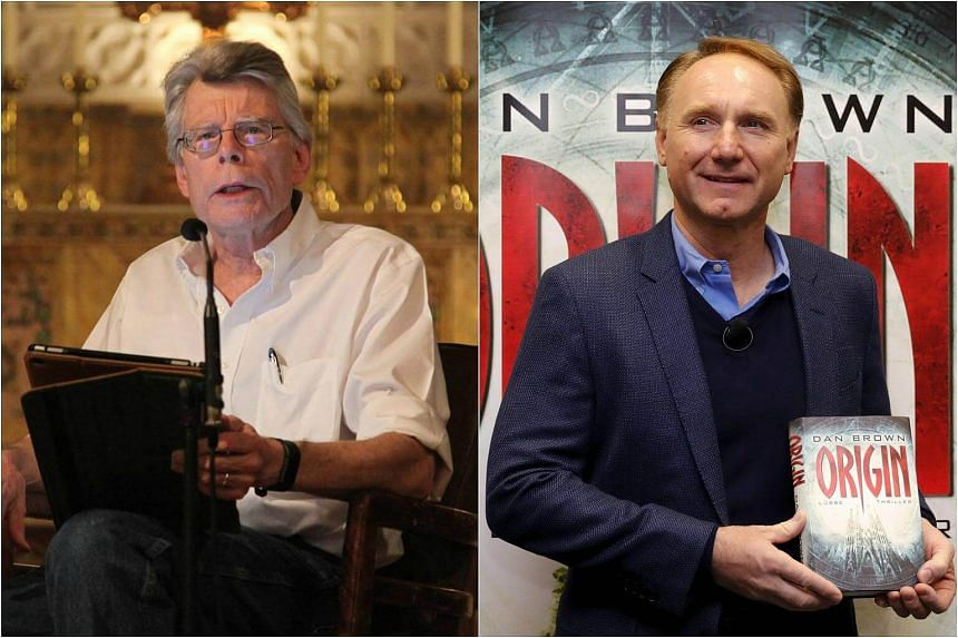 Dan Brown's mystery thriller Origin knocked Stephen King's Sleeping Beauties from the top spot for the fiction bestsellers chart.