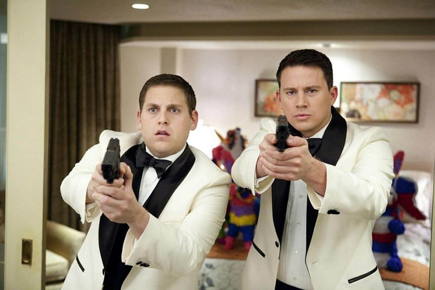 The researchers said that 'lad flicks' such as the 2012 cop movie 21 Jump Street, starring Channing Tatum and Jonah Hill, cemented close male friendships as a desirable norm.