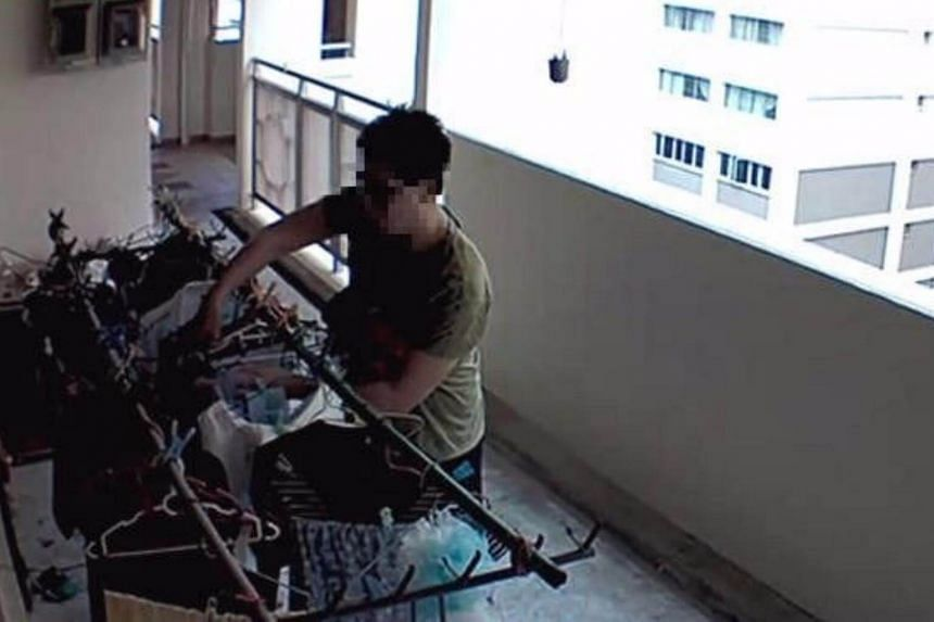 Earlier this week, photos of a man taking bras from drying laundry along a corridor went viral.