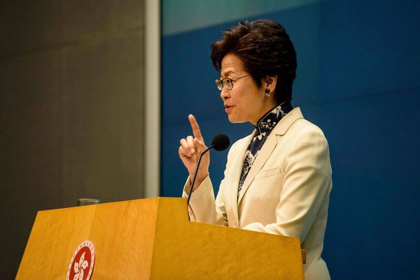 """Chief Executive Carrie Lam said she """"can't exclude any possibilities because immigration matters will change depending on the case."""""""