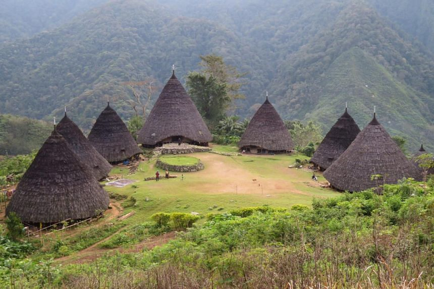 The village of Wae Rebo, in Flores, Indonesia, sits 1,100m above sea level, and is home to about 50 members of the Manggarai tribe.