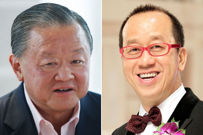 Mr Oei Hong Leong (top) holds a 12.88 per cent stake in Raffles Education while Mr Chew Hua Seng (above) is the largest shareholder with 33.58 per cent.