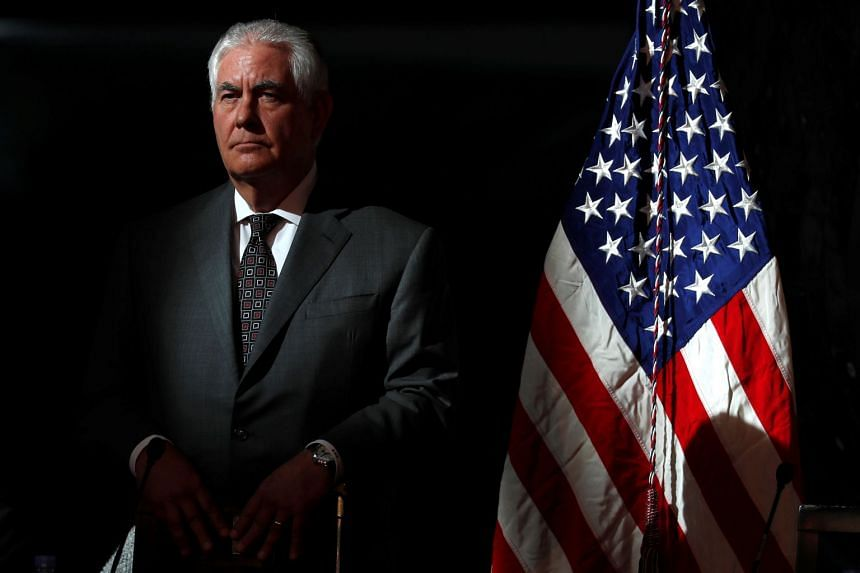 Reimposing sanctions would, in effect, say the US is walking away from the deal, said Tillerson (above).
