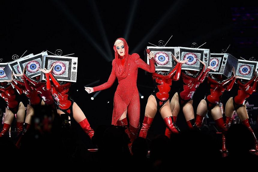 Female singers such as Katy Perry (above) were missing from the list of nominees for the American Music Awards.