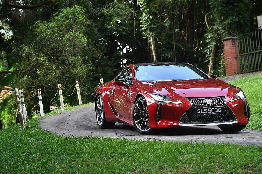 The LC500 scores in the looks department.