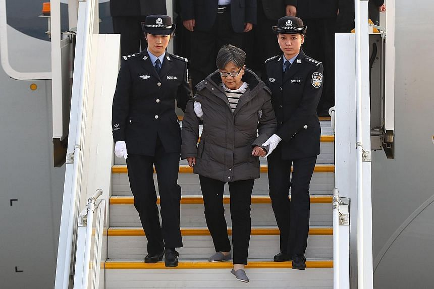 The Chinese authorities arrested Yang Xiuzhu upon her arrival at Beijing Capital International Airport in November last year.