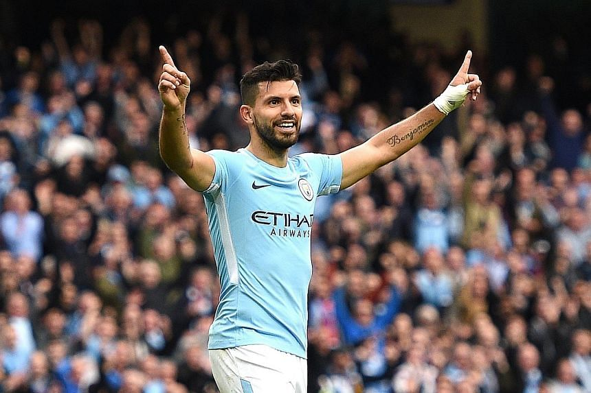 Sergio Aguero returned to training after being involved in a car crash in Amsterdam late last month. The Argentinian is City's top scorer with six goals in the league.