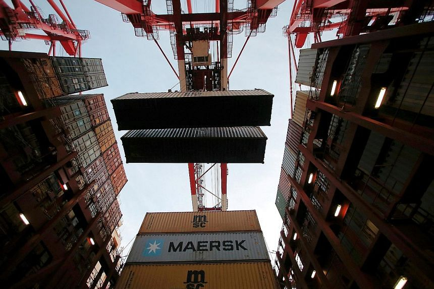 With September exports increasing 8.1 per cent from a year earlier and imports growing 18.7 per cent, China had a trade surplus of US$28.47 billion (S$38.6 billion) for the month, according to the General Administration of Customs.