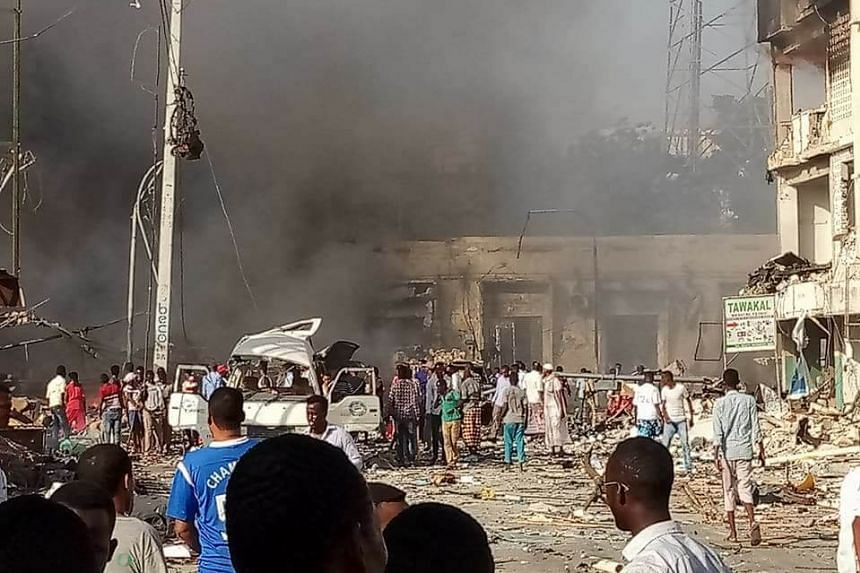 A photo posted to social media shortly after the blast.