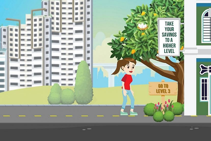 A mobile game app called Ready, Get Set, Grow caters to young Central Provident Fund members. It relays CPF-related messages based on the three basic needs of retirement: housing, healthcare and income.