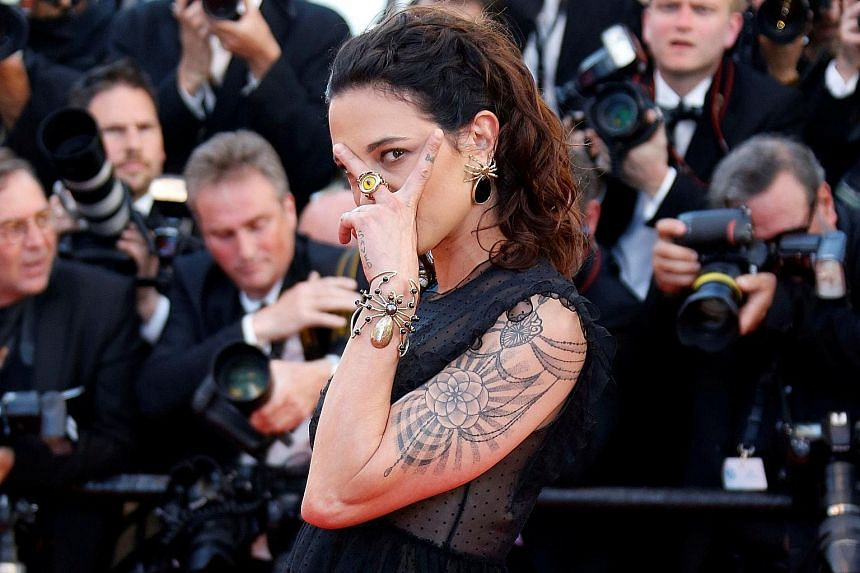 Actress Asia Argento said Mr Weinstein forced himself on her.