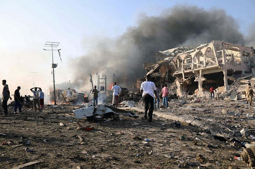 The devastating blast, caused by a truck loaded with explosives, took place in the Hodan district - a bustling commercial part of Mogadishu, Somalia, with many shops, hotels and businesses. The explosion was outside the Safari Hotel, a popular place