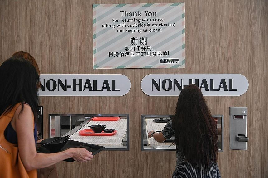 Yishun Park Hawker Centre, which refunds a deposit for each tray returned, has a return rate of about 60 per cent.