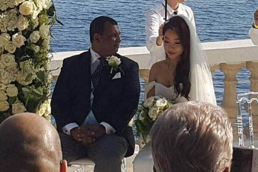 AirAsia CEO Tony Fernandes married his fiancee Chloe in a quiet ceremony in Cote d'Azur, France, on Oct 14, 2017.