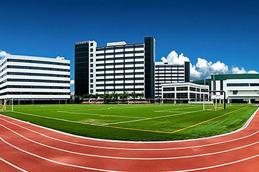Private schools like Overseas Family School (left) and Raffles Design Institute (right) are facing stiff competition for students.