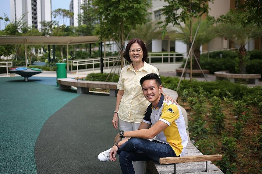 Captain Pan Wei Hao said his desire to change was sustained by the support of people such as his mother, Madam Ng Saw Hong, who visited him at the Boys' Home each week, his aftercare officer, as well as staff and volunteers there.