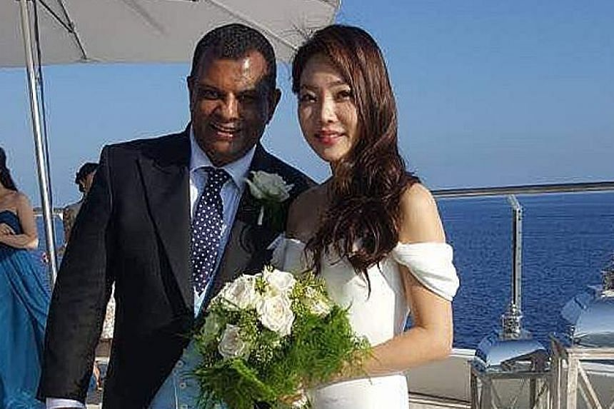 AirAsia's chief executive, Mr Tony Fernandes, yesterday tied the knot with his South Korean girlfriend of more than two years, Chloe, an actress in her early 30s, at a ceremony attended by family and close friends.