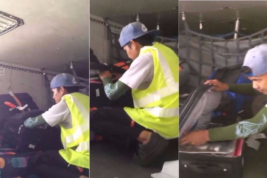 An airport baggage handler was arrested after he was caught on camera opening the luggage of a Jetstar Airways passenger at Phuket International Airport.