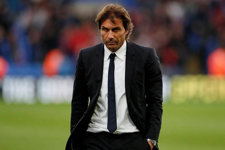 Chelsea manager Antonio Conte looks dejected after the match against Crystal Palace, on Oct 14, 2017.