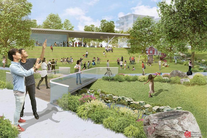 Artist's impression of proposed community plain at Holland Plain.