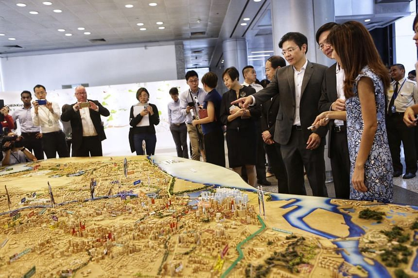 """""""With better connectivity, we hope more residents will choose public transport, and support our overall move to a car-lite society,"""" said Minister for National Development Lawrence Wong at the launch of the Our Neighbourhoods: A Look into the Future"""