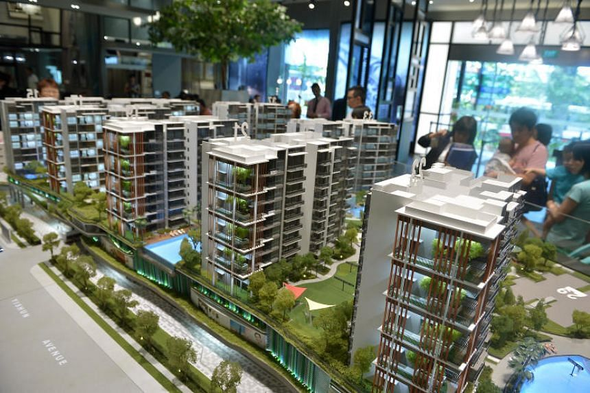 The showflat for North Park Residences condominium in Yishun. The number of new private homes sold in the first nine months of this year is 62.9 per cent higher than for the same period last year.