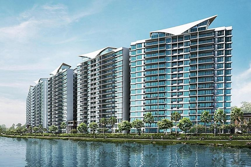 An artist's impression of Kingsford Waterbay, which sold 45 units.