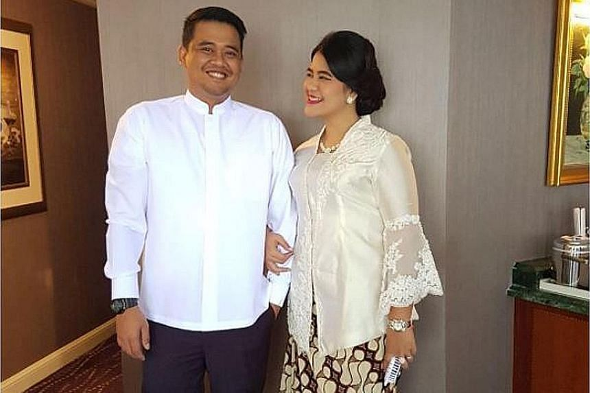 The wedding ceremony of Mr Bobby Afif Nasution and Ms Kahiyang Ayu, the daughter of President Joko Widodo, is scheduled to take place in Mr Joko's home town of Surakarta in Central Java on Nov 8.