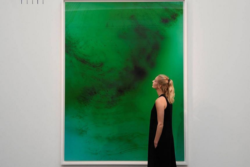 The charity auction, held at autioneer Sotheby's on Oct 16 included works by A-list artists including Wolfgang Tillmans, Antony Gormley, Tracey Emin, Sarah Lucas, Mark Wallinger and Rachel Whiteread.