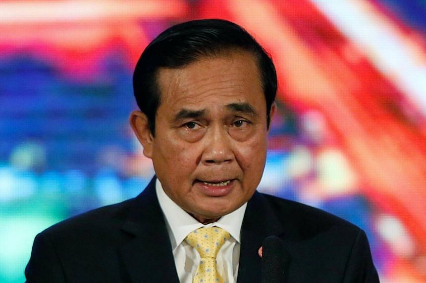 Thai Prime Minister Prayut Chan-o-cha speaks to media during the announcement of his government's achievements over the past two years at the Government House in Bangkok, Thailand, on Sept 15, 2016.