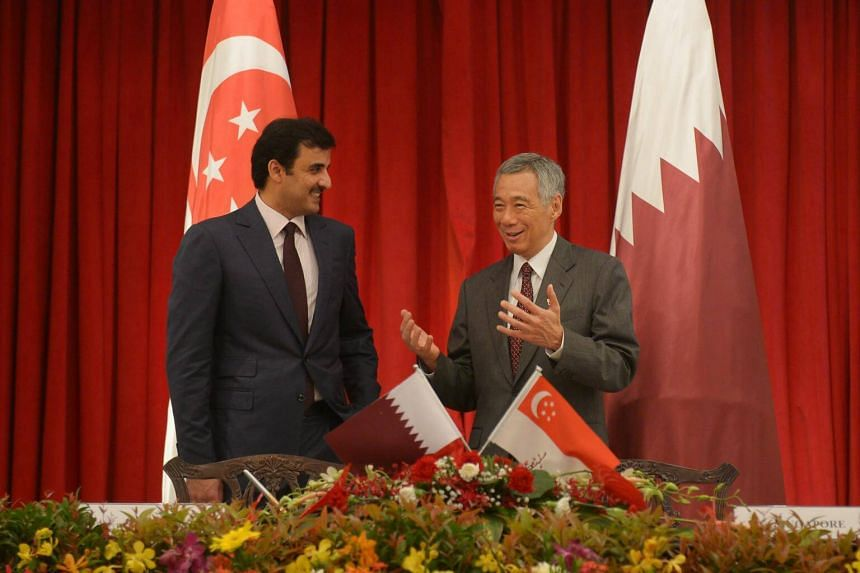 The Emir of Qatar, His Highness Sheikh Tamim Bin Hamad Al Thani and Prime Minister Lee Hsien Loong stressed the importance of strengthening bilateral cooperation at a meeting on Tuesday (Oct 17).