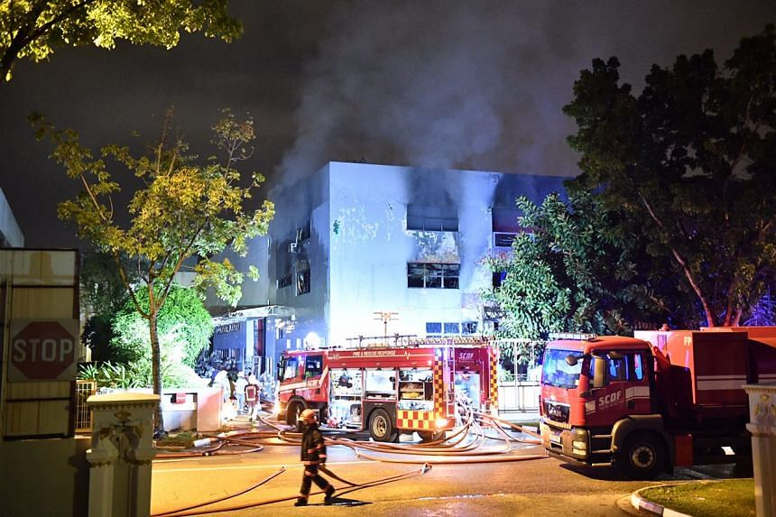 The Singapore Civil Defence Force said it was alerted to a fire at 65 Sungei Kadut Loop on Oct 17, 2017.