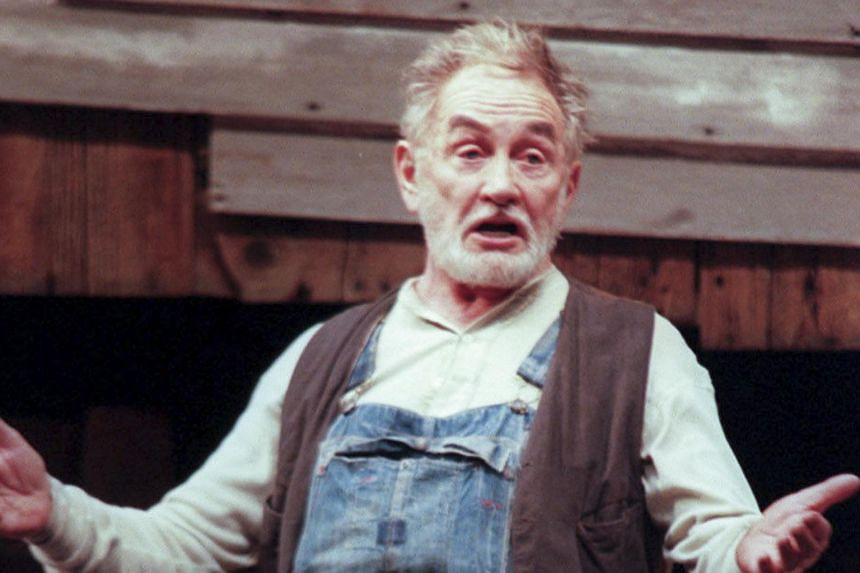 Roy Dotrice's Tony-winning performance as an irascible pig farmer in Eugene O'Neill's Moon for the Misbegotten, in New York, on March 9, 2000. Dotrice died at his home in London, on Oct 16, 2017.