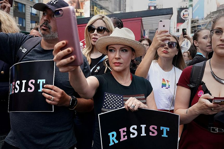 Actress Alyssa Milano inspired the social media campaign in which women used the hashtag #MeToo to acknowledge that they had been sexually harassed or assaulted.