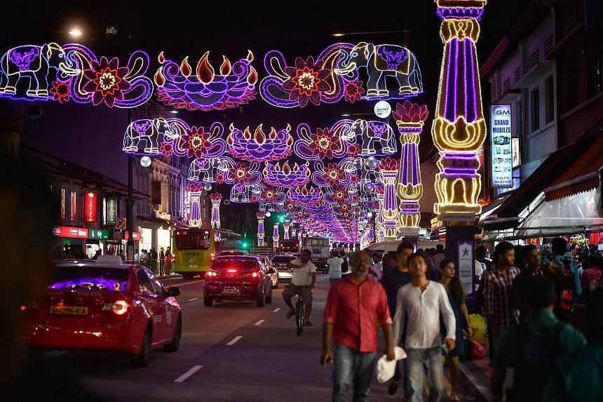 This year's Deepavali light-up features elephants, chosen by the Little India Shopkeepers and Heritage Association as the animals are closely linked with the theme of the royalty of India.