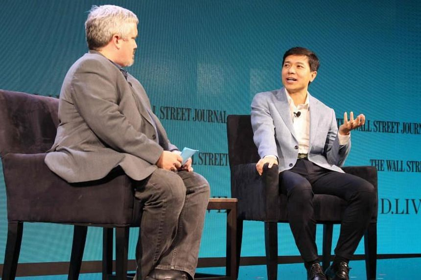 Baidu is working with a large bus maker in China to have a self-driving bus running a route by next year, said Baidu chief executive Robin Li in an on-stage interview at The Wall Street Journal D.Live conference in Laguna Beach on Oct 17, 2017.