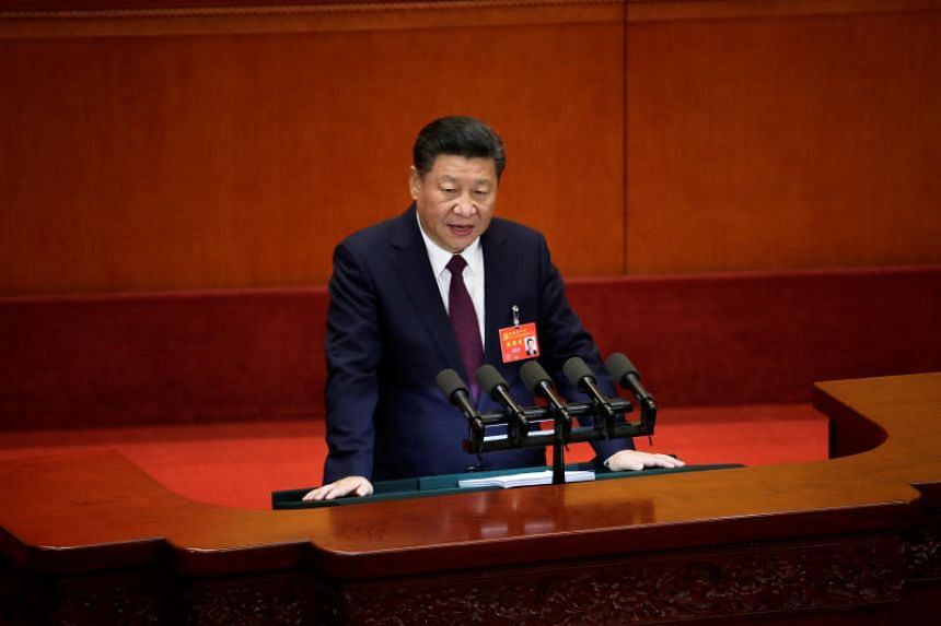 Chinese President Xi Jinping speaks during the opening of the 19th National Congress of the Communist Party of China at the Great Hall of the People in Beijing.