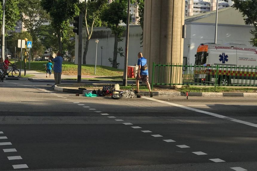 The man, 62, was on an e-bicycle, and was said to be crossing a traffic junction near Bedok North Avenue 3 when a car crashed into him.