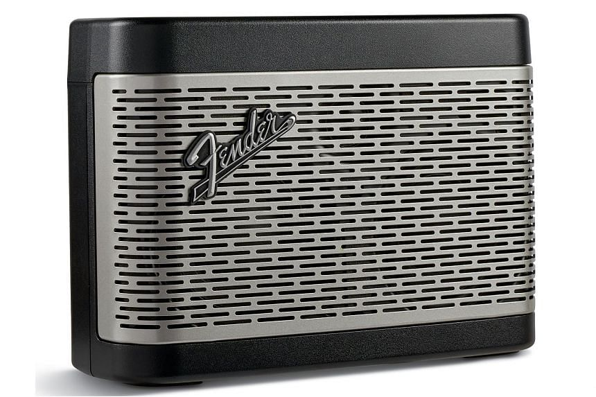 The Fender Newport Bluetooth speaker is modelled after the company's custom 1968 amplifiers, with an appropriately retro, vintage look and volume, treble and bass knobs.