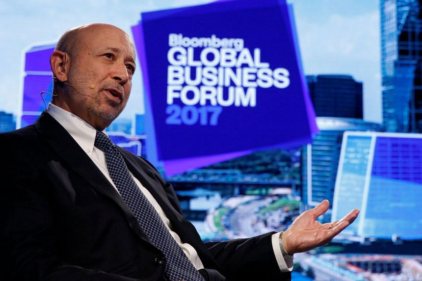 Blankfein (above, in September 2017) has had meetings with clients from across Germany in Frankfurt.