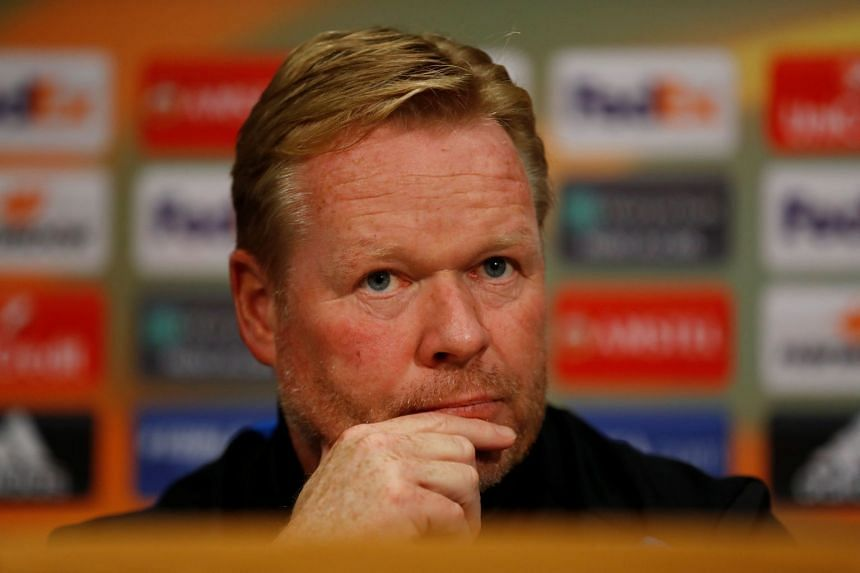 Everton manager Ronald Koeman during the press conference.