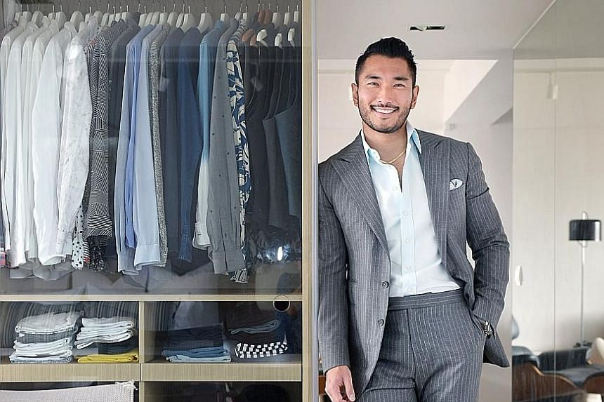 Mr Shinji Yamasaki, who has about 20 suits for summer and 20 suits for winter, says he has gotten a lot of opportunities because of the way he dresses.