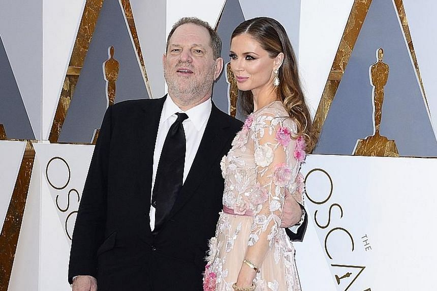 Harvey Weinstein and his wife Georgina Chapman at the 88th annual Academy Awards last year. Weinstein was expelled from the Academy Of Motion Pictures Arts And Sciences last Saturday.