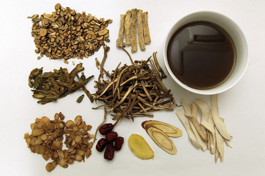 A generic photo showing various herbs used in traditional Chinese medicine.